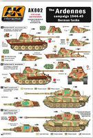 AK Wet Transfer- The Ardennes Campaign 1944-45 German Tanks