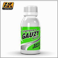 AK Intermediate Gauzy Agent Shine Enhancer 100ml Bottle Hobby and Model Paint Supply #894