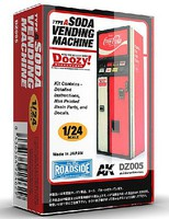 AK 1/24 Doozy Series- Coca-Cola Soda Vending Machine (Resin)