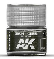 AK Real Colors- Green RAL6007 Acrylic Lacquer Paint 10ml Bottle