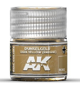 AK Interactive Real Colors- Dark Yellow (Variant) Acrylic Lacquer Paint 10ml Bottle