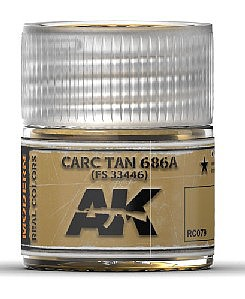 AK Interactive Real Colors- Carc Tan 686A Acrylic Lacquer Paint 10ml Bottle