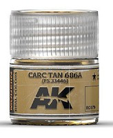 AK Real Colors- Carc Tan 686A Acrylic Lacquer Paint 10ml Bottle