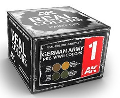 AK Real Colors- German Army Pre-WWII Acrylic Lacquer Paint Set (4) 10ml Bottles
