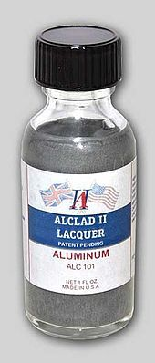 Alclad II 1oz. Bottle Aluminum Lacquer -- Hobby and Model Lacquer Paint -- #101