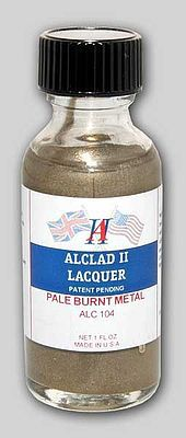 Alclad II 1oz. Bottle Pale Burnt Metal Lacquer -- Hobby and Model Lacquer Paint -- #104