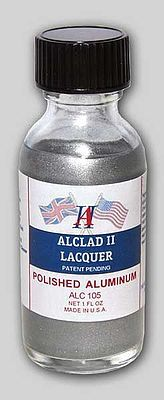 Alclad II 1oz. Bottle Polished Aluminum Lacquer -- Hobby and Model Lacquer Paint -- #105