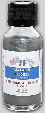 Alclad II 1oz. Bottle Airframe Aluminum Lacquer -- Hobby and Model Lacquer Paint -- #119