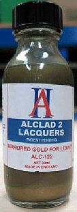 Alclad II 1oz. Bottle Mirrored Gold Lacquer for Lexan -- Hobby and Model Lacquer Paint -- #122