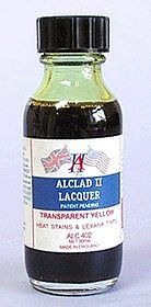 Alclad II 1oz. Bottle Transparent Yellow Lacquer -- Hobby and Model Lacquer Paint -- #402