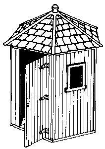 Alexander Scale Telephone Shelters - Wooden -- HO Scale Model Railroad Trackside Structure -- #3114