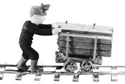 Alexander Scale Mine Figures - Miner Mike -- HO Scale Model Railroad Figure -- #9809