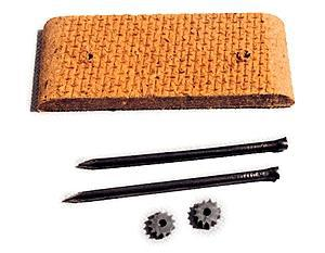 A Line Product Track Cleaning Pad Kit Fits HO Scale 40' Box Cars -- #10003