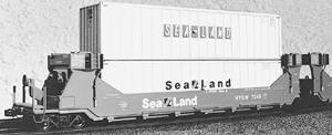 A Line Product Gunderson Twinstack Intermodal Car - Undecorated -- HO Scale Model Railroad Freight Car -- #27103