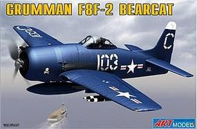 ArtModelKits F8F2 Bearcat USAF Navy Carrier Based Fighter Plastic Model Airplane Kit 1/72 #7201