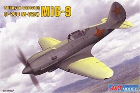 ArtModelKits MiG9 (I210/m82A) Soviet Fighter Plastic Model Airplane Kit 1/72 Scale #7207