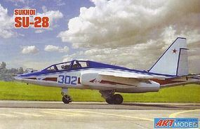 ArtModelKits Sukhoi Su28 Trainer Aircraft Plastic Model Airplane Kit 1/72 Scale #7211
