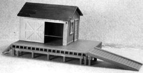AM Williamsburg Freight Station HO Scale Model Railroad Building #108