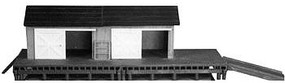 AM Hamelton Freight Station HO Scale Model Railroad Building #111