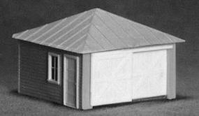 AM 2-Car Garage w/Side Door HO Scale Model Railroad Building #114