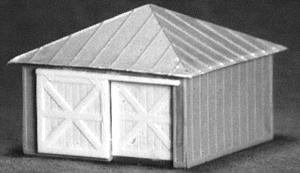 AM Models Storage Shed w/Double Doors -- HO Scale Model Railroad Building -- #115
