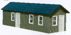 AM Long Yard Office - Kit HO Scale Model Railroad Building #126