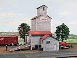 American-Models Farmers Grain & Stock Company HO Scale Model Railroad Building #115