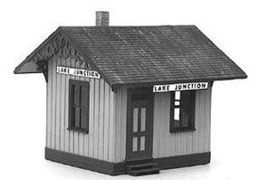 American-Models Lake Junction Station Kit HO Scale Model Railroad Building #120