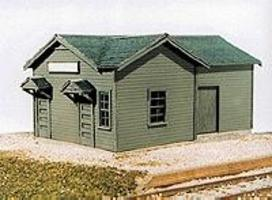 American-Models Illinois Central Type B Depot Kit HO Scale Model Railroad Building #124