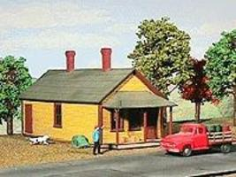 American-Models 1-Story House Kit HO Scale Model Railroad Building #129