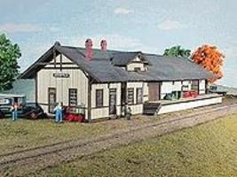 American-Models Atlantic Coast Line Depot Kit HO Scale Model Railroad Building #130