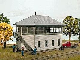 American-Models Norfolk & Western Style Interlocking Tower Kit HO Scale Model Railroad Building #132