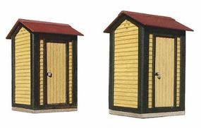 American-Models ATSF Standard Single Door Stall Yard Closets (2) Kit HO Scale Model Railroad Building #167