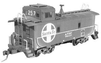 American Model Builders ATSF Style Caboose Modernization Kit -- HO Scale Model Train Freight Car -- #227