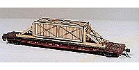 American Model Builders Wooden Crates w/Blocking for a Flat Car -- HO Scale Model Train Freight Car Load -- #287