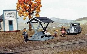 American-Models Pacific Electric Style Passenger Shelter Kit O Scale Model Railroad Building #483