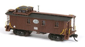 American-Models New York Central 19000 Series Wood Caboose - Laser-Cut Wood Kit Includes Decals, Less Trucks and Couplers - N-Scale