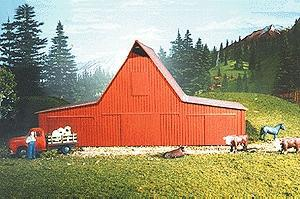 American Model Builders Feeder & Livestock Barn Kit -- N Scale Model Railroad Building -- #617