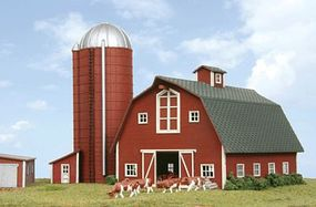 American-Models Country Barn w/Silo Kit N Scale Model Railroad Building #630