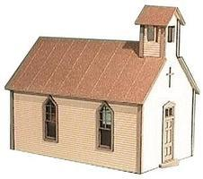 American-Models Crossroads Church Kit HO Scale Model Railroad Building #791