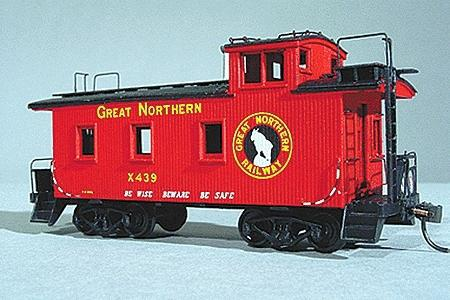 American Model Builders Great Northern-Style 25' Caboose Kit -- HO Scale Model Train Freight Car -- #861