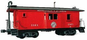 American-Models Wood Caboose Kit Minneapolis & St. Louis Bay Window Car HO Scale Model Train Freight Car #867