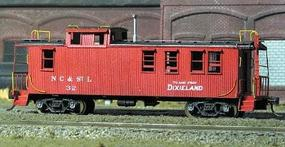 American-Models Wood Caboose - Kit Nashville, Chattanooga & St. Louis HO Scale Model Train Freight Car #873