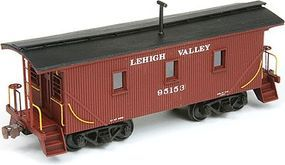 American-Models Wood Caboose - Kit Lehigh Valley 25 Transfer HO Scale Model Train Freight Car #874