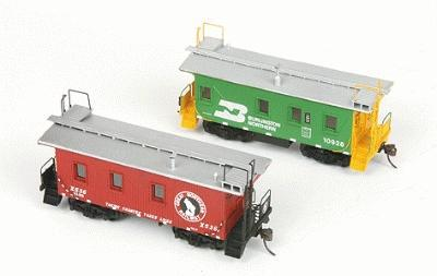 American Model Builders GN/BN Transfer Caboose Kit Unpainted -- HO Scale Model Train Freight Car -- #877