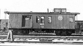 American-Models Wood Caboose Kit Missouri Pacific Drovers Car HO Scale Model Train Freight Car #884
