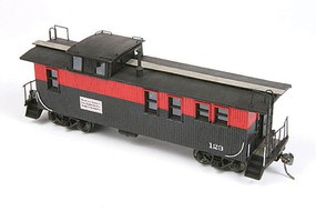 American-Models Midland Valley Wood Caboose - Laser-Cut Wood Kit Less Trucks and Couplers