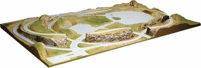 American Plastics Timber Ridge Layout Painted 5' X 8' -- HO Scale Model Railroad Scenery -- #4005