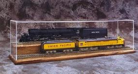 American-Plastics Two Tier, 24 w/Finished Oak Base HO Scale Model Train Display Case #h2024