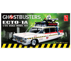 AMT GHOSTBUSTERS Ecto-1A Plastic Model Car Kit 1/25 Scale #750